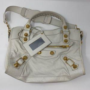 Medium White Balenciaga Handbag